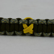 od green acu camouflage od green military support paracord bracelet unity band with yellow ribbon in the center