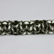 od green and white camouflage paracord bracelet unity band across the center of a white background