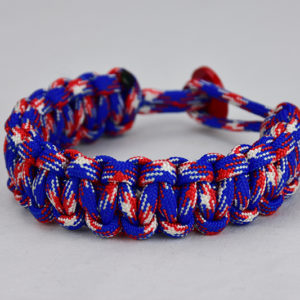 patriotic camouflage paracord bracelet unity band w red button back