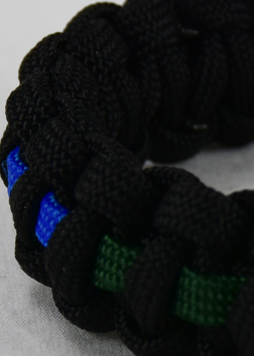 specialty paracord bracelet black lgbtq support with rainbow line